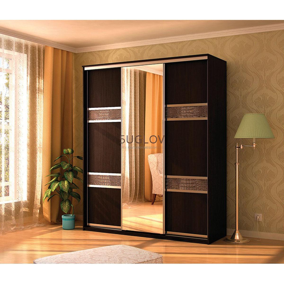 Шкаф-купе де люкс-7 трехдверный (мэри мебель) - интернет маг.